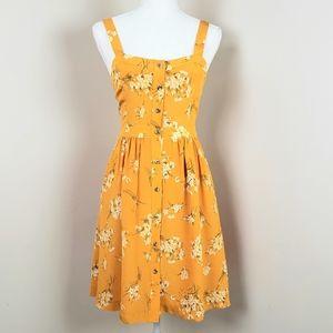 NWT.  Madewell flower silk dress